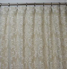 Items similar to Oatmeal Beige Natural Linen Traditions Damask Curtains - Rod Pocket - 84 96 108 or 120 Long by 25 or 50 Wide - Optional Blackout Lining on Etsy Damask Curtains, Curtain Fabric, Curtain Rods, Primitive Bathrooms, Stitch Lines, Rod Pocket Curtains, Fabric Names, Natural Linen