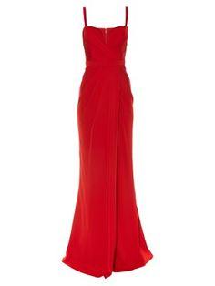 Ruched-drape bustier gown  | Alexander McQueen | MATCHESFASHION.COM