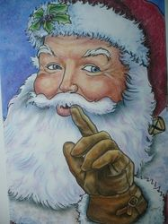 Santa Claus portraits - Mary Clare's Artwork