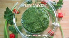 Green Seasoning, step by step Video Recipe l Real Nice Guyana (HD) Fried Rice Recipe Video, Pickled Hot Peppers, Guyanese Recipes, Video L, Stuffed Hot Peppers, Rice Recipes, Palak Paneer, Guacamole, Food Videos