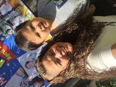 Kiel selfie pose with Nanay Mopette