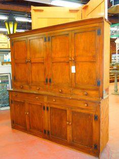 Antique Victorian Built-In Butler Pantry Cabinet - C. 1885 ...