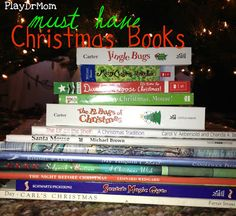 PlayDrMom shares a list of 24 must-have Christmas books. Includes links for each book!