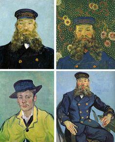 van gogh portraits... amazing colour palettes