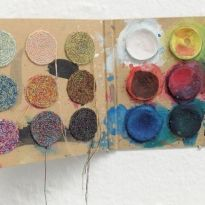 Anu Tuominen: Dirty Colours, 2000 Textile Art, Fiber Art, Design Elements, Arts And Crafts, Textiles, Colours, Eye, Crochet, Artist
