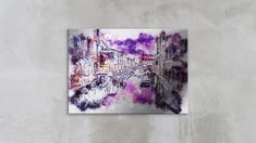 Tablou din aluminiu striat Dusky Violet Painting, Art, Art Background, Painting Art, Kunst, Paintings, Performing Arts, Painted Canvas, Drawings