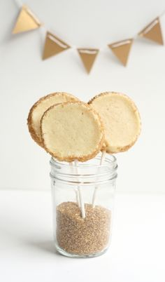 Gold Cookie Pops