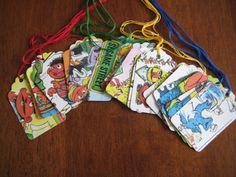 Gift tags for wrapped books.
