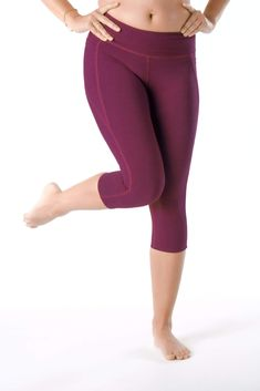 17 Dakota Higher Rise Capri - Purple Bloom - Large / Purple Bloom