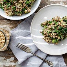 Cheezy Broccoli Quinoa Pilaf