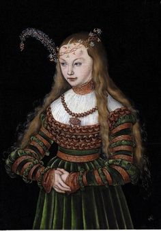 LUCAS CRANACH (1472 - 1553) | Portrait of Princess Sybille of Cleves, Wife of Johann Friedrich the Magnanimous of Saxony - 1526.