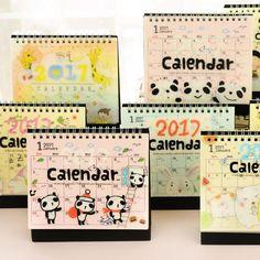 Y07 2017かわいいかわいい漫画動物テーブルカレンダーdiyのデスクトップ収納デコレーションクリエイティブプロモーションギフト