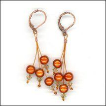 Simple Cluster Earrings | AllFreeJewelryMaking.com