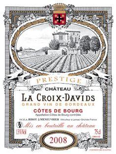 Wine & Cork: {Wine Label} Château La Croix-Davids