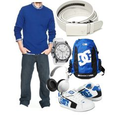 """Alpine White Belt - Royal Blue"" by kristinmadsen on Polyvore"