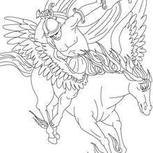 legend of pegasus and bellerophon coloring page coloring page countries coloring pages greece