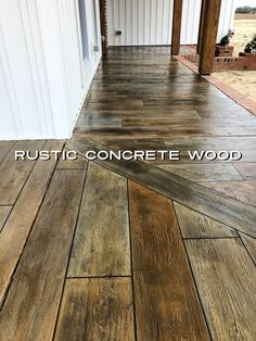 Learn how to make concrete look like wood! We have helped thousands of contractors and do it yourselfers make their concrete look like wood. Concrete Wood Floor, Wood Stamped Concrete, Concrete Steps, Concrete Countertops, Stained Concrete Porch, Stain Concrete, Concrete Patios, Concrete Lamp, Concrete Design