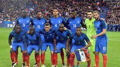 L'équipe de France lors du match amical contre la Russie, le 30 mars 2016.