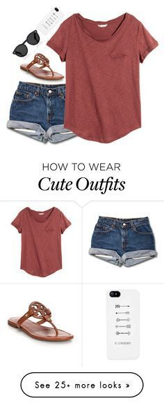 """Comment your GO TO outfit!"" by emmaintn on Polyvore featuring H&M, Tory Burch and Illesteva #cruiseoutfitsmexico"