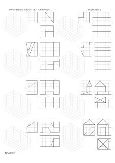 losmuertosdeldiedrico: PERSPECTIVA ISOMÉTRICA-croquis Drawing Lessons, Drawing Practice, Isometric Drawing Exercises, Orthographic Drawing, Interesting Drawings, Geometric Drawing, Technical Drawing, Autocad, Art Drawings