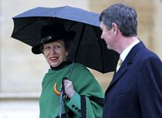 Princess Anne - Queen Elizabeth II Attends The Easter Day Service At Windsor Castle