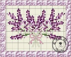 Double Lavender free chart on Au Fil des Fleurs (site is in French) at… Embroidery Art, Cross Stitch Embroidery, Embroidery Patterns, Cross Stitch Patterns, Cross Stitch Cards, Cross Stitch Flowers, Cross Stitching, All Things Purple, Needlepoint