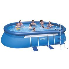 Intex 20ft X 12ft X 48in Oval Frame Pool Set with Filter Pump, Ladder, Ground Cloth & Pool Cover