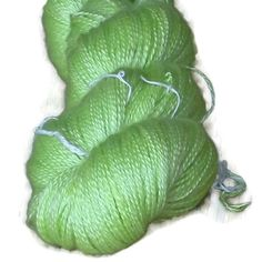 """Luxury Cashmere Yarn With Silk, Hand Dyed 2-ply Apple Green """" Apples"""""""