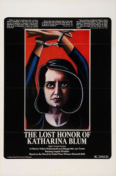 US one sheet for THE LOST HONOR OF KATHARINA BLUM (Volker Schlöndorff and Margarethe von Trotta, West Germany, 1975)