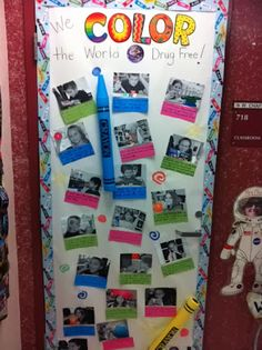 Fifth Grade Rocks! Classroom Door, School Classroom, Classroom Ideas, Drug Free Posters, Drug Free Week, Fifth Grade, Second Grade, Red Ribbon Week, School Doors