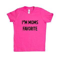 I'm Mom's Favorite Sister Brother Sibling Siblings Mom Moms Mother Mothers Children Kids Parent Parents Parenting SGAL9 Unisex Kid's Shirt