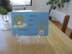 Un-FROG-ettable birthday card!!!