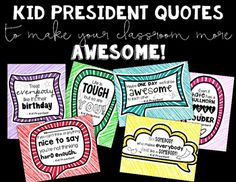 What classroom doesn't need a little extra motivation and love?  This set of Kid President quotes will make your classroom even more…
