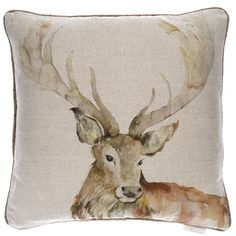 Mr Stag Gregor Linen Cushion | |