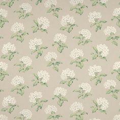 Laura Ashley Heligan Floral Linen/Cotton Fabric Linen