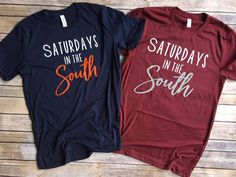 Excited to share the latest addition to my #etsy shop: Game Day Shirt , Saturdays in the south tee , game day tee , soft tee , Alabama shirt , auburn shirt , SEC shirt , collage football #clothing #shirt #gamedayshirt #alabamashirt #auburnshirt #rolltide #wareagle #footballshirt #orangeandblue