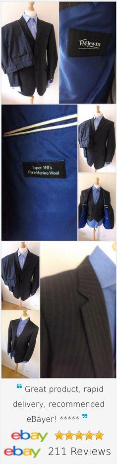 £89.99 Mens T.M.LEWIN Black 2 Piece Suit 40R: 34W X 43L, Inside Leg :32.5L .Free Shipping  #lifestyle #fashionmodel #gentlemenfashion #trendyfashion #lookinggood #menswear #trendyfashion #fashion #mensfashion #mensjacket #suitjackets