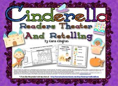 Cinderella Readers Theater and Retelling First Grade Sight Words, Second Grade, 3rd Grade Reading, Guided Reading, Kindergarten Literacy, Literacy Centers, Fairy Tales Unit, Teaching Theatre, Readers Workshop