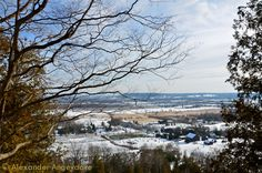 Hiking Rattlesnake Point on the Niagara Escarpment always brings some gorgeous views of the area Milton/Burlington.  Here's one from one of the few snow falls we had this winter.  ~ Milton, Ontario