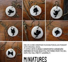 handmade Porcelain Necklace by misakomimoko