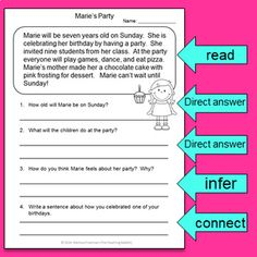 Reading Comprehension Passages and Questions (Second Grade) Reading Comprehension Strategies, Reading Passages, Hindi Worksheets, Making Inferences, Making Connections, Math Literacy, Writing Skills, English Grammar, Second Grade