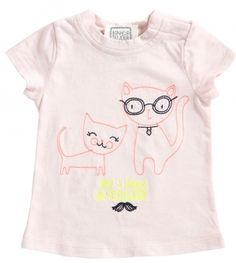 at - T-Shirt Lully Cats Pink, Bonheur du Jour Summer Looks, Onesies, Pullover, Cats, Pink, T Shirt, Clothes, Fashion, D Day