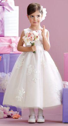 ca03aec9459 215341 by Mon Cheri Pink Flower Girl Dresses