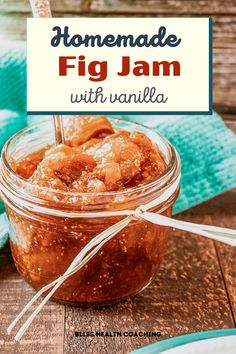 This Fig Jam comes together so easily and it's the perfect way to elevate any dinner party or appetizer. Just add your favorite crackers, cheese or bread. Vanilla Pudding Desserts, Vanilla Recipes, Jam Recipes, Low Carb Recipes, Dessert Recipes, Cooking Recipes, Gluten Free Thanksgiving, Thanksgiving Recipes, Homemade Fig Jam