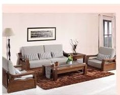 living room wood furniture. Image result for simple wooden sofa sets living room  Google Search Decors