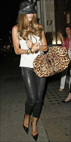 Elle Mcpherson,is sooo chic!  Love her style