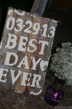 Pallet Wedding sign.