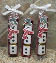www.frenchiestamps.com - fun Snowman treat candy holder using the Now Place bundle. More detail on my blog on Nov.20-15 at http://www.frenchiestamps.com/2015...
