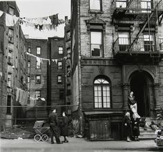 Lower East Side Tenament - New York City taken by Rebecca Lepkoff  between the years of 1937 and 1950.