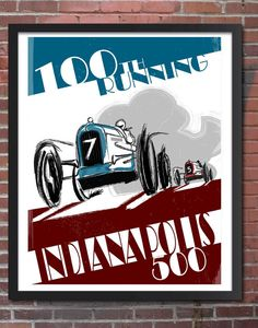Indianapolis 500 2016 100th running Indianapolis by FlyGraphics